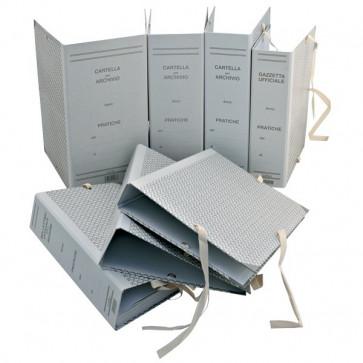 Faldoni rivestiti in carta Euro-Cart dorso 18 cm f.to 25x35 cm CA18