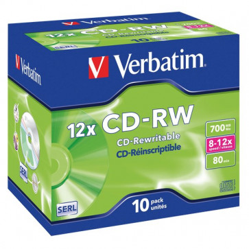 CD Verbatim Verbatim CD-RW Jewel case 12x 43148 (conf.10)