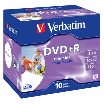 DVD Verbatim Verbatim DVD+R 4,7 Gb 16x Stampabile Jewel case 43508 (conf.10)