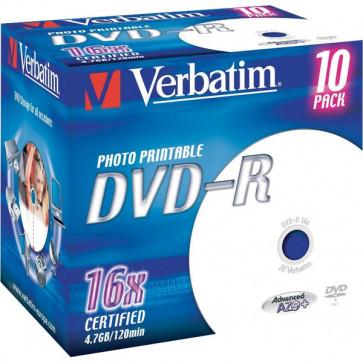 DVD Verbatim Verbatim DVD-R 4,7 Gb 16x Stampabile Jewel case 43521 (conf.10)