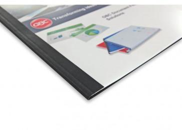 Cartelline termiche GBC goffrata 6 mm 50 fogli trasp./nero IB451638 (conf.100)