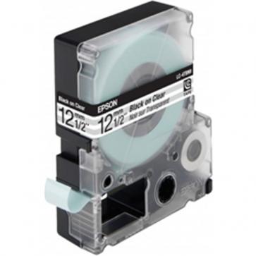 Nastro per etichettatrice LC Epson - 12 mm x 9 m - nero/trasparente - C53S625407