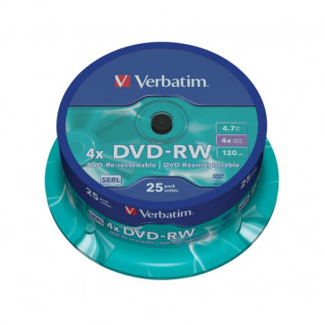 DVD Verbatim DVD-RW 4,7 Gb 4x Spindle 43639 (conf.25)