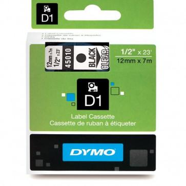 Nastri Dymo D1 12 mm x 7 m nero/trasparente S0720500 (ex 45010)