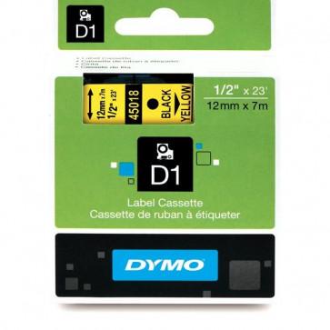 Nastri Dymo D1 12 mm x 7 m nero/giallo S0720580 (ex 45018)
