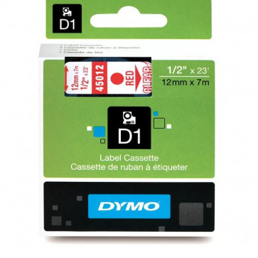 Nastri Dymo D1 12 mm x 7 m rosso/trasparente S0720520 (ex 45012)