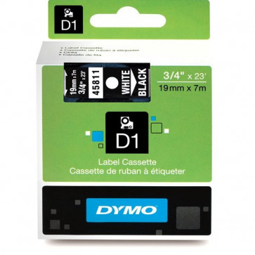 Nastri Dymo D1 19 mm x 7 m bianco/nero S0720910 (ex 45811)
