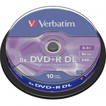 DVD Verbatim  DVD+R 8,5 Gb 8x DL Spindle 43666 (conf.10)