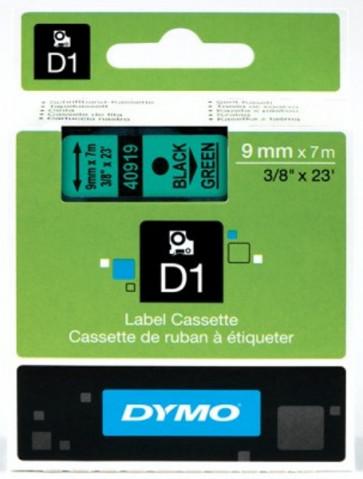 Nastri Dymo D1 9 mm x 7 m nero/verde S0720740 (ex 40919)