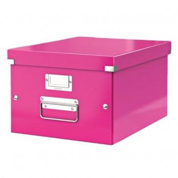 Scatole archivo Click & Store - scatola media- fucsia