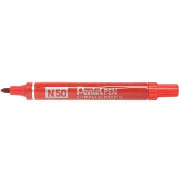 Marcatore permanente Pentel Marcatore N50 rosso tonda 4,3 mm N50-B
