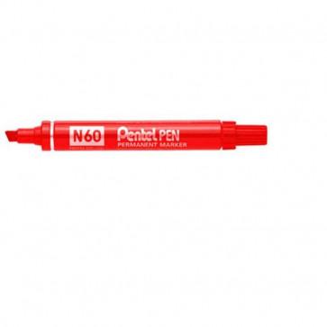Marcatore permanente Pentel Marcatore N60 rosso a scalpello 3,9-5,5 mm N60-B