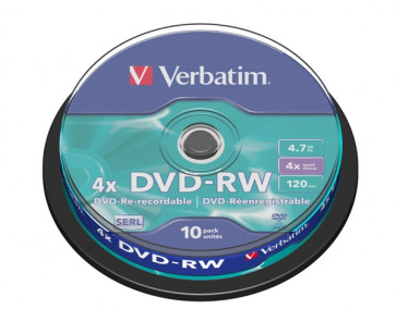DVD Verbatim  DVD-RW 4,7 Gb 4x Spindle 43552 (conf.10)