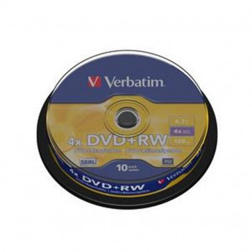DVD Verbatim  DVD+RW 4,7 Gb 4x Spindle 43488 (conf.10)