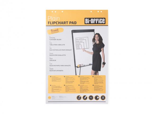 da 5 Conf Bianca 60 g//mq Lato Superiore Perforato Bi-Office Blocco Per Lavagna di Carta Euro 50 Fogli per Blocco