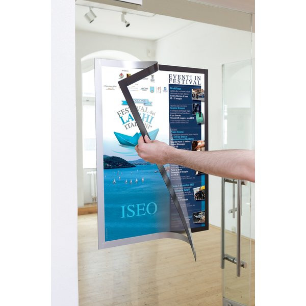 cornice duraframe poster durable a2 argento 4995 23 in
