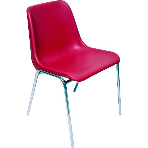 Sedia ufficio per visitatore Easy Ergosit rosso EASYC/R (conf.5) in offerta