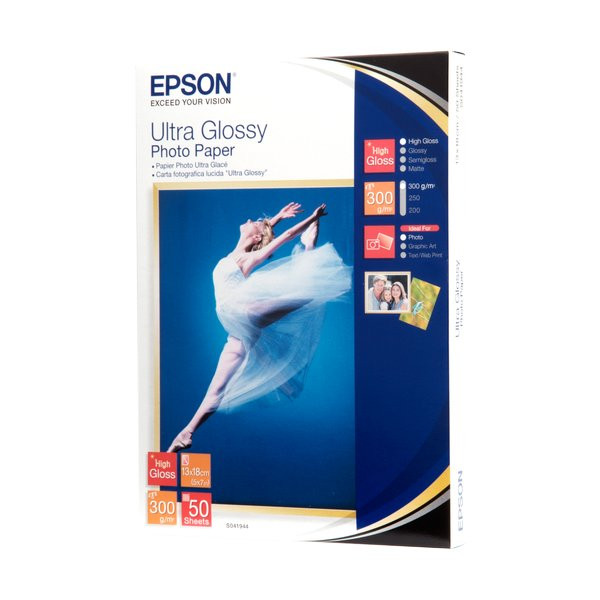 per Stampanti INKJET Confezione 100 fogli Carta fotografica 13x18 Premium Foto Glossy lucida 250 gr