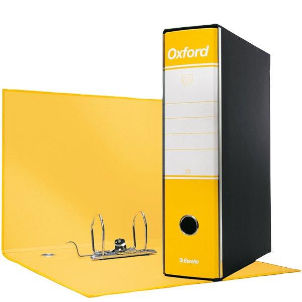 60e21c3584 Registratori Oxford Esselte commerciale 8 cm 23x30 cm giallo 390783090  (conf.6)