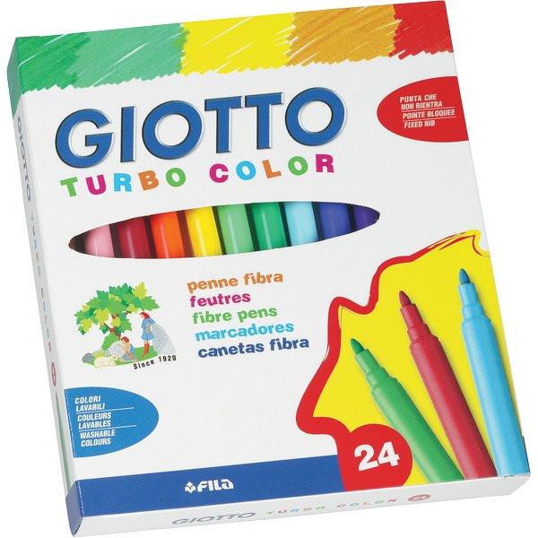 Giotto 521500 pennarelli turbo color punta fine 0 5-2 mm confezione da 96