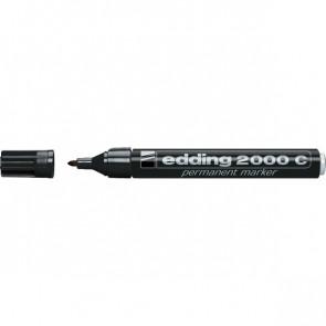 Marcatore permanente 2000 Edding tonda nero 1,5-3 mm 2000C 001