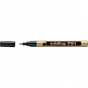 Marcatore permanente a vernice Edding oro tonda 1-2 mm 751 053
