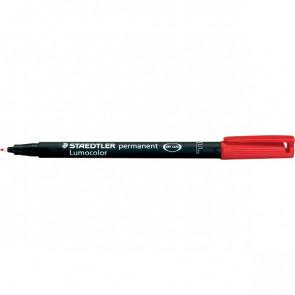 Penna a punta sintetica Lumocolor Permanent Staedtler rosso superfine 0,4 mm 313-2