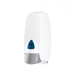 Distributore di sapone 12,5x14x 26,5 cm QTS in ABS con capacit? 400 - 800 ml bianco - IN-FOA/WC