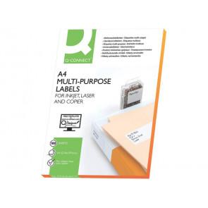 Etichette universali Q-Connect bianco 210x148,5 mm conf. da 200 etichette - KF10662