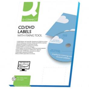 Etichette universali tonde Q-Connect bianco ? 116 mm conf. da 50 etichette - KF01579