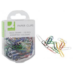 Fermagli colorati Q-Connect assortiti 26 mm