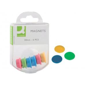 Magneti per lavagne bianche Q-Connect assortiti 20 mm