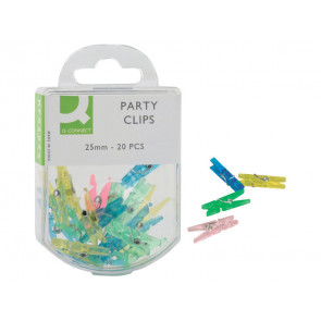 Mini-mollette fermacarte Q-Connect 25 mm colori assortiti