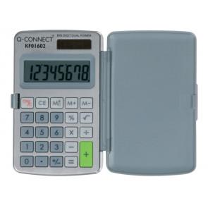 Calcolatrice solare da tasca Q-Connect 8 cifre