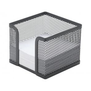 Portamemo in metallo Q-Connect 9,5x8,0x9,5 cm nero