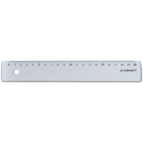 Righello Q-Connect trasparente 20 cm  KF00586