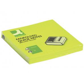Foglietti riposizionabili a fisarmonica Q-Connect Z-Notes 70 g/mallo neon