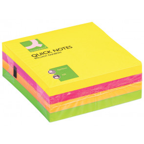 Foglietti riposizionabili Q-Connect assortiti neon 76x76mm