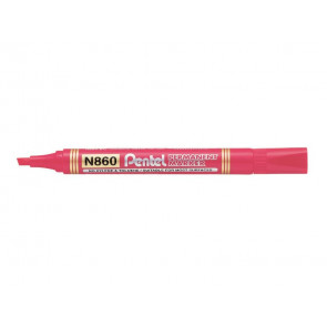Marcatore permanente Pentel N860 punta a scalpello 4.5 mm rosso N860-BE