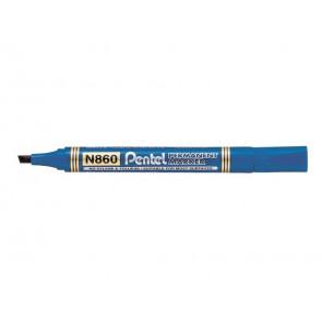 Marcatore permanente Pentel N860 punta a scalpello 4.5 mm blu N860-CE