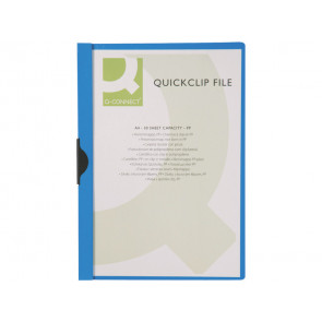 Cartellina con clip Q-Connect PVC 22x30,7 cm blu scuro
