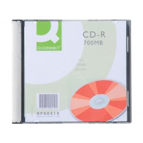 CD-R Q-Connect Slimline Jewel Case 700 MB 80 min 52X conf. da 10 pezzi - KF00419