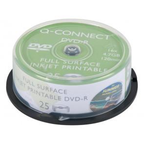 DVD-R Q-Connect Spindle 16x 120 min stampabile conf. da 25 pezzi - KF18021