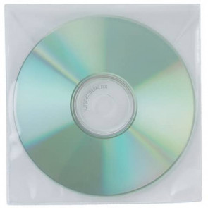 Tasca per CD/DVD Q-Connect polipropilene 120my senza foratura conf.50 - KF02207