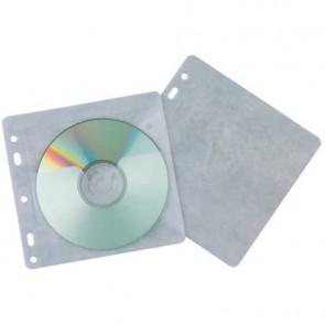 Tasca per CD/DVD Q-Connect polipropilene 120my con foratura conf.40 - KF02208
