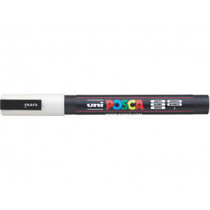 Marcatore a tempera POSCA Uni-Ball punta tonda 0,9-1,3 mm bianco