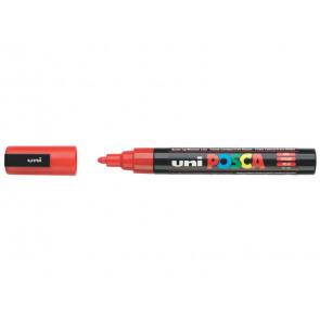 Marcatore a tempera POSCA Uni-Ball punta tonda 1,8-2,5 mm rosso