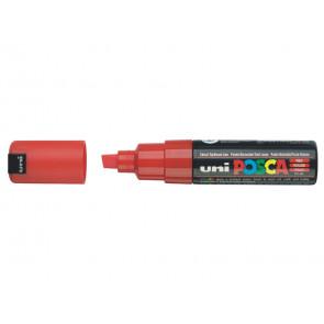 Marcatore speciale POSCA punta a scalpello 8 mm rosso