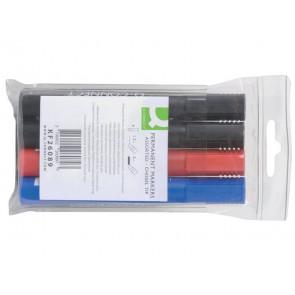 Marcatore permanente Q-Connect punta a scalpello 1,5-5 mm assortiti conf. da 4 - KF26089