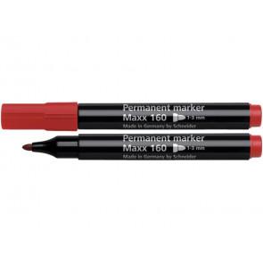 Marcatore permanente Q-Connect punta tonda 2-3 mm rosso KF26047